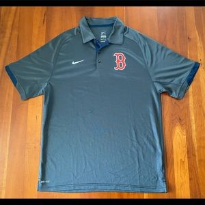Nike MLB Boston Red Sox Graphite Golf Shirt Polo M